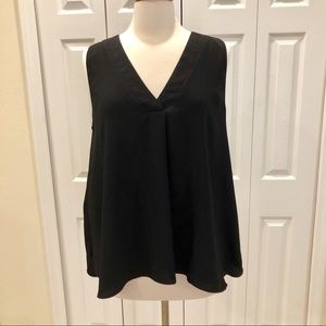 Ann Taylor Sleeveless Pleat Front High-Low Top